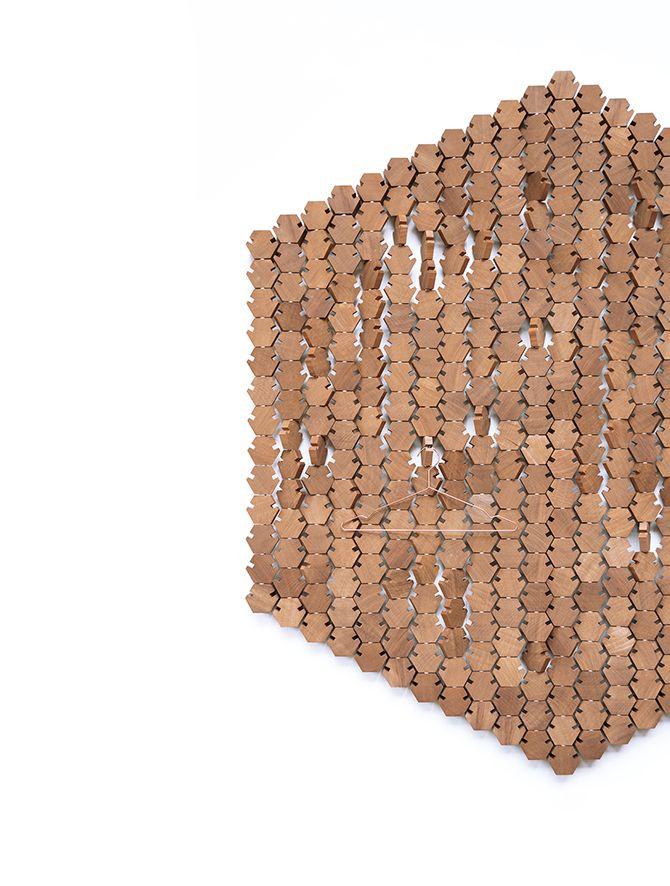 Studio Rene Siebum Wardrobe Hexagon Xxl A Coatrack That Plays