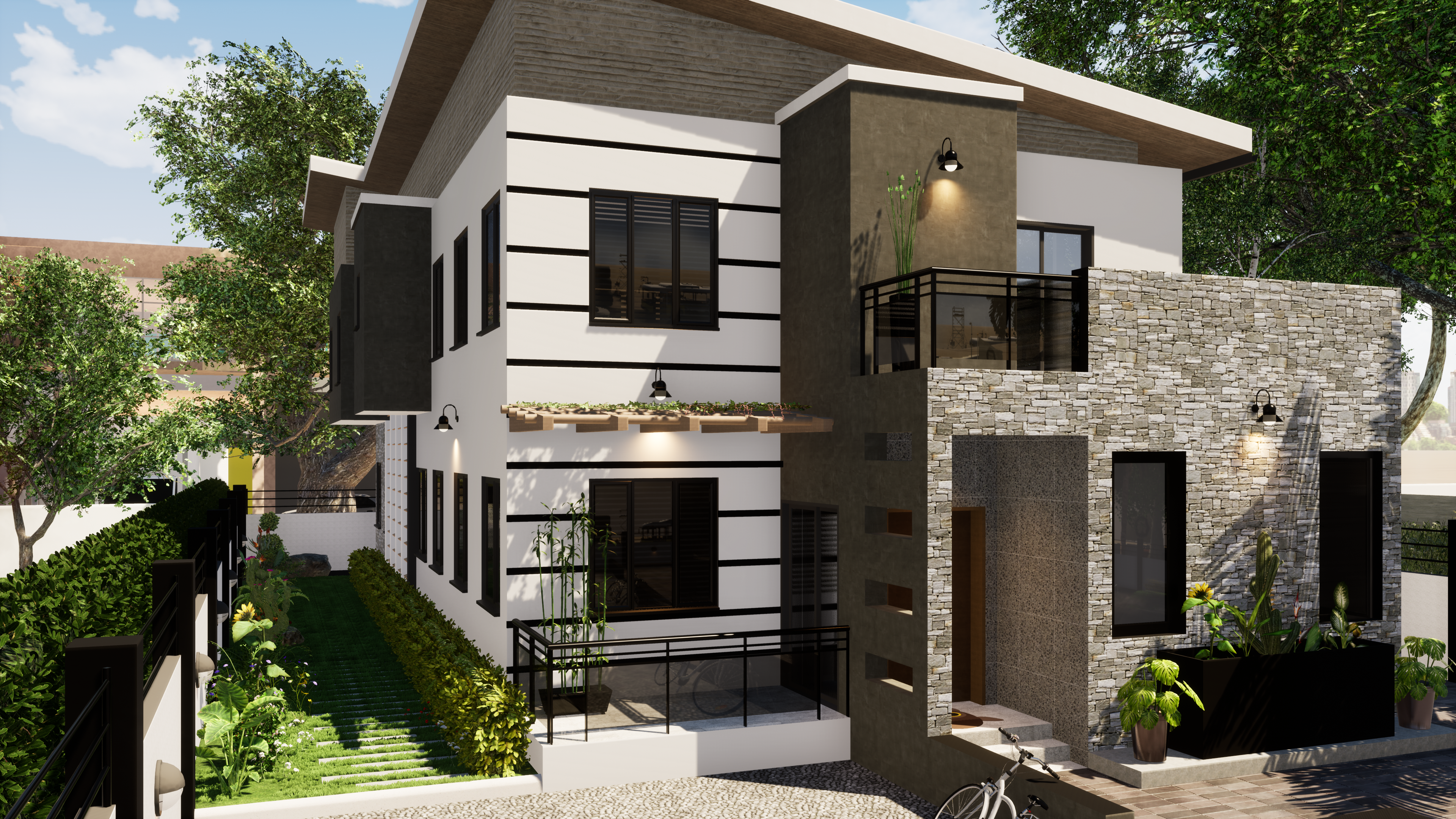 A 4 Bedroom Duplex With 2 Living Rooms Gym And Large Ter
