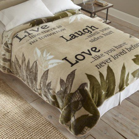 Walmart Throw Blankets Prepossessing Shavel Home Products Live Laugh Love Throw Blanket  Walmart Decorating Design
