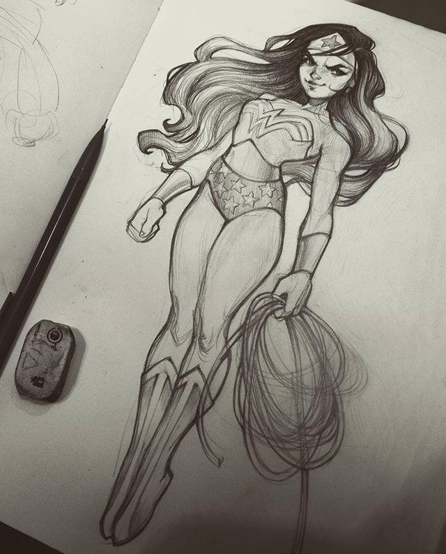 Drew Wonder Woman In Her Classic Outfit Can T Wait For The Movie
