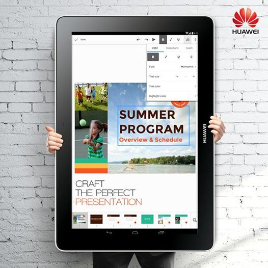 Create a presentation on your phone or tablet on the go with the latest android app, Google slides. #app #Huawei #ppt #Huaweismartphones