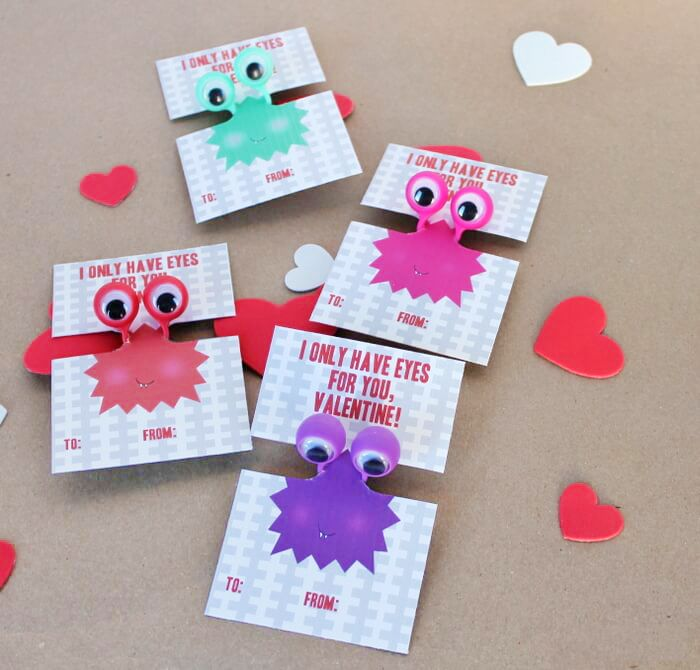 photograph about Printable Googly Eyes titled Totally free Printable Googly Eye Valentines Valentines