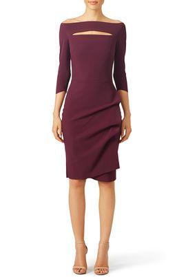 7a16ff36e1a Angela has chosen a gorgeous Burgundy Kate Sheath by La Petite Robe di  Chiara Boni