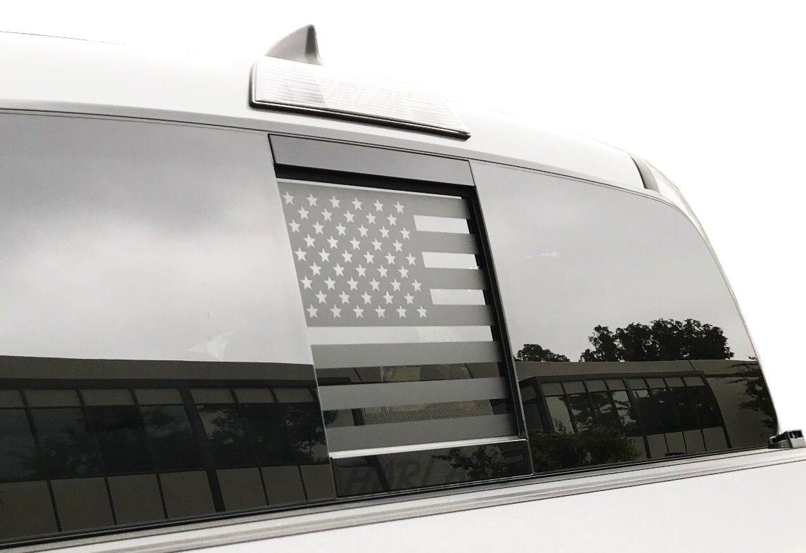 Toyota Rear Window Slider American Flag Decal for