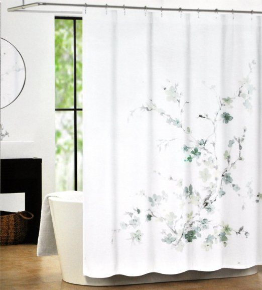 Robot Check Tahari Home Curtains Gray Shower Curtains