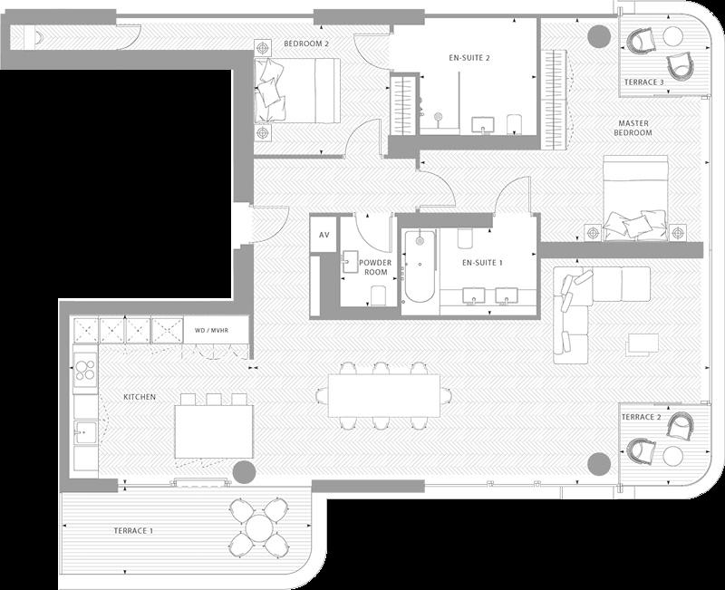 Floorplans Principal Tower In 2020 Floor Plans Apartment Plans House Plans