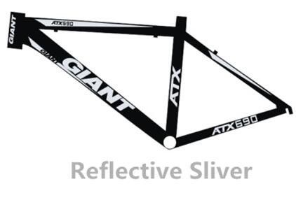 High-end road bike mountain frame decal bisiklet aksesuar for Giant ATX 690 reflective sticker light carved MTB bicycle stickers