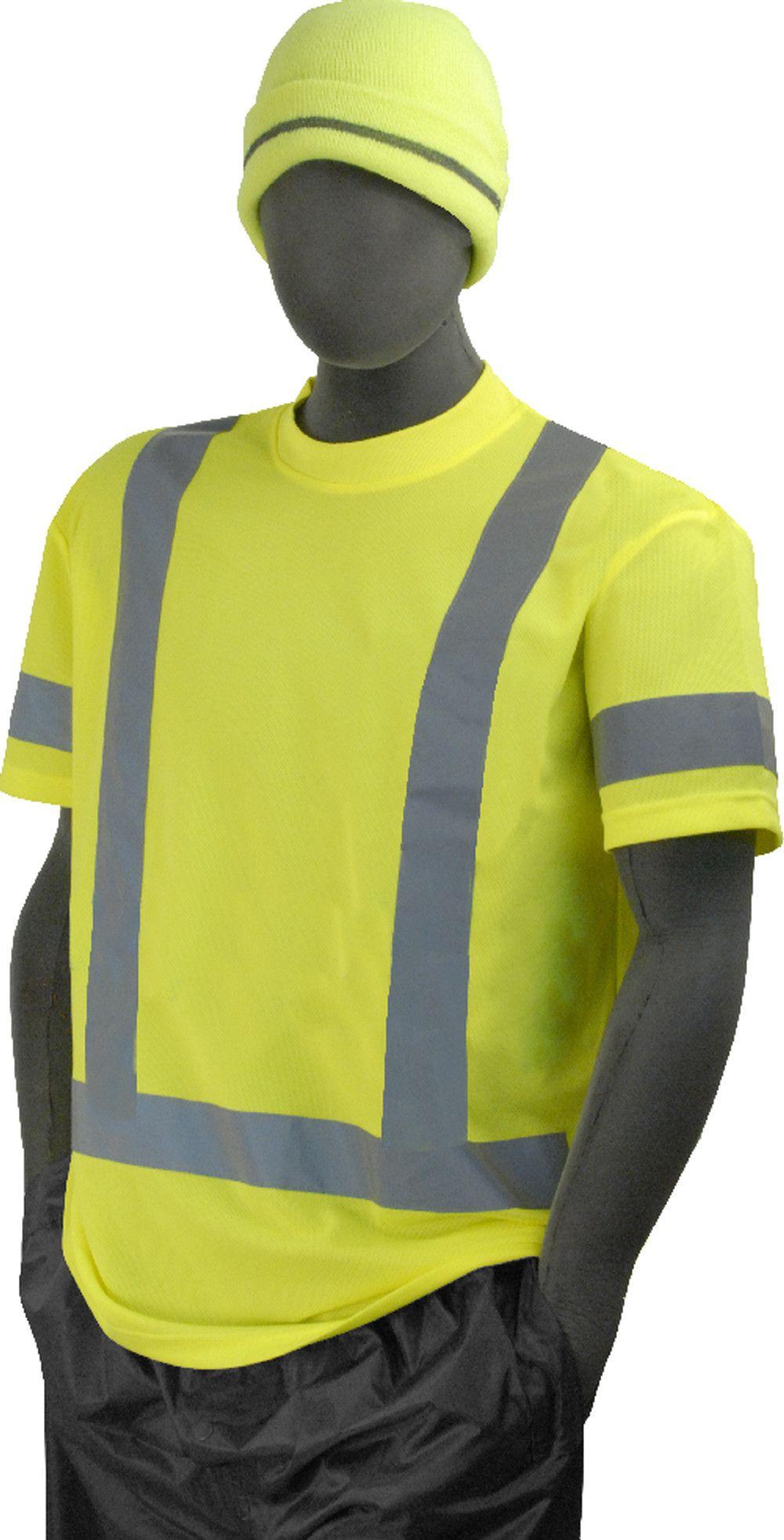 Majestic 755303 Hi Vis Yellow Safety TShirt ANSI Class 3