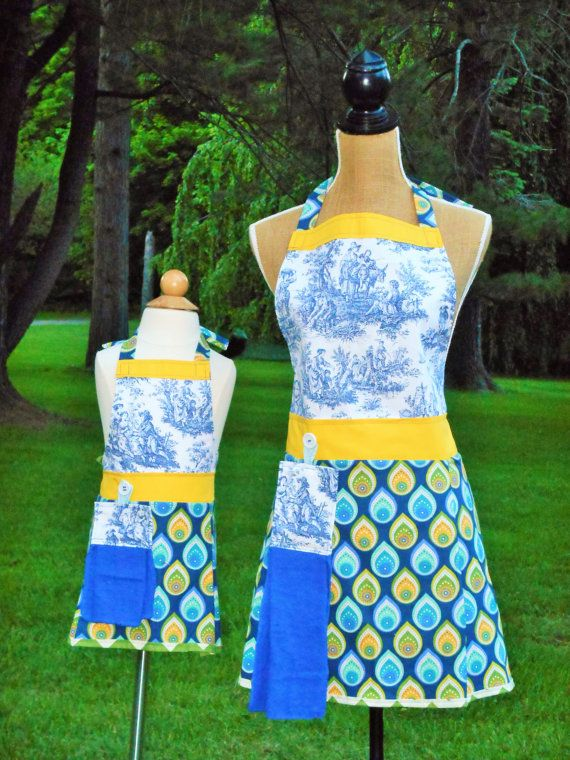Mommy  Daughter Apron Set Adult One Size  Kids by TheBedfordLife, $75.00