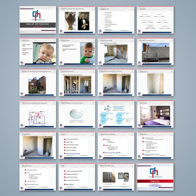 Create A Distinct Professional Power Point Template By Ti  D