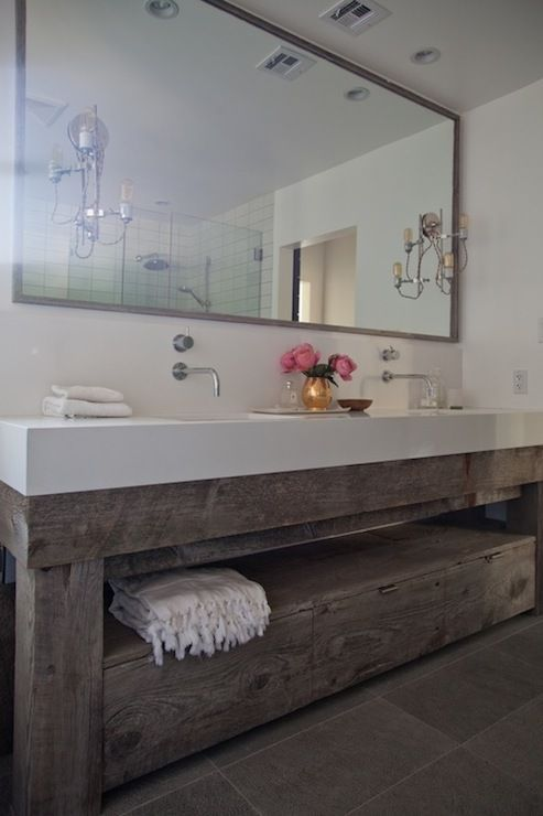 Eric Olsen Design  Bathrooms  Salvaged Wood  Bathrooms Amusing Design A Bathroom Vanity Inspiration Design