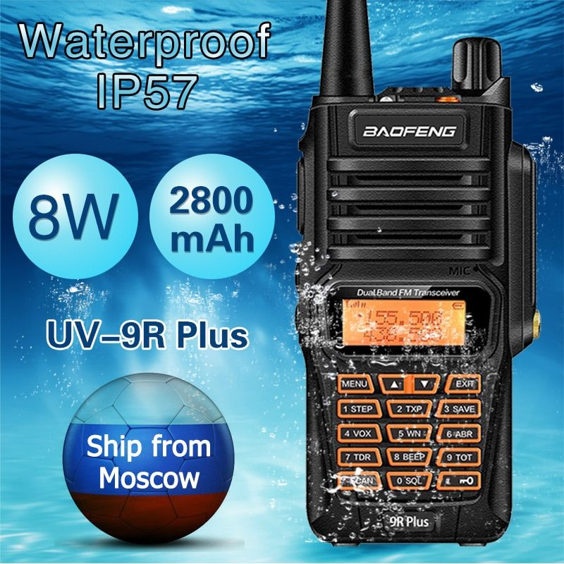 2019 New High Power Upgrade Baofeng Uv-9r Waterproof Walkie Talkie 10w For Two Way Radio Long Range 10km Uv 9r Plus Cellphones & Telecommunications
