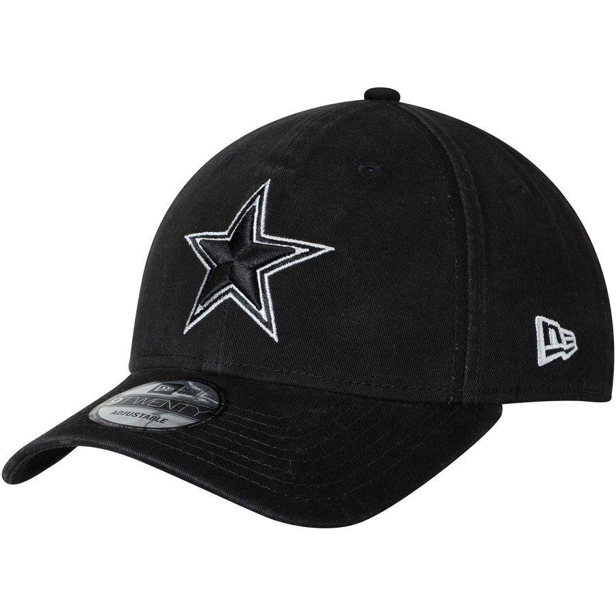 Men s Dallas Cowboys New Era Black Core Classic Twill 9TWENTY Adjustable Hat 27b3c5939