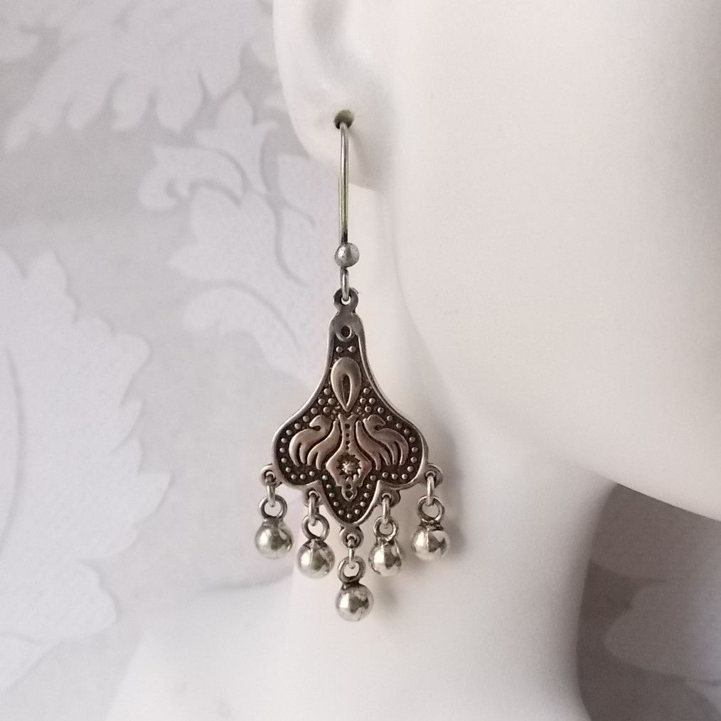 Solid sterling silver long dangle chandelier earrings boho jewelry solid sterling silver long dangle chandelier earrings boho jewelry arubaitofo Choice Image