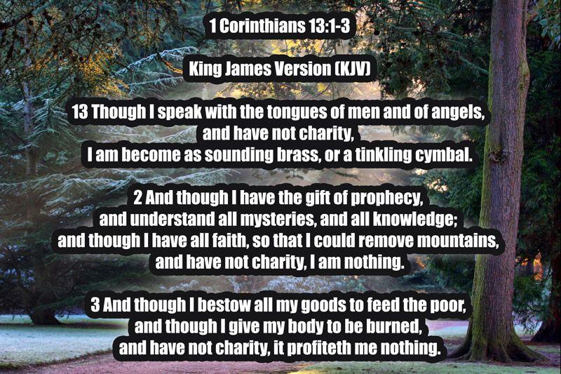 1 corinthians 1312 king james version kjv 13 though i