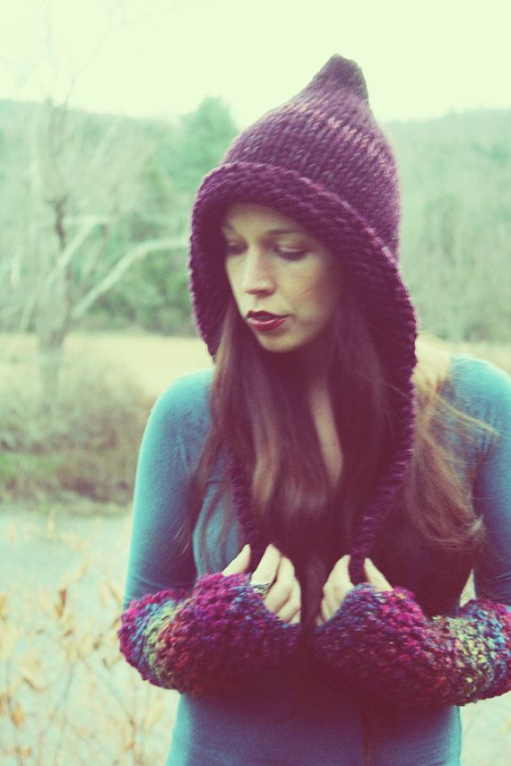 374096e24cd Hand Knitted Elf Hat