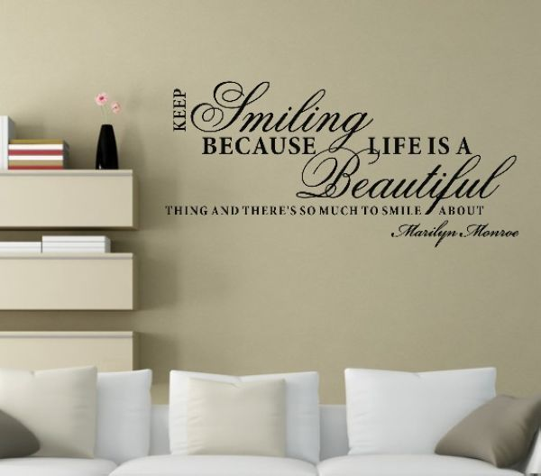 Wall Art Sayings 35 lovely inspiring quotes that will bring smile on your face