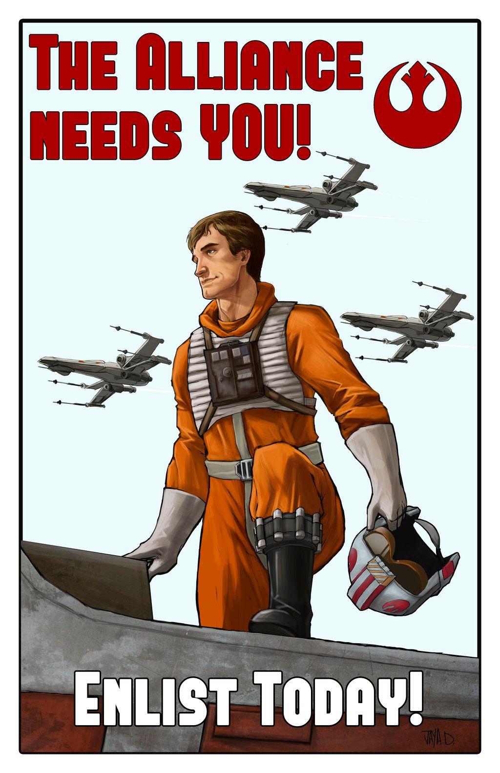 Star Wars ~ Rebel Alliance  Propaganda by Harpokrates