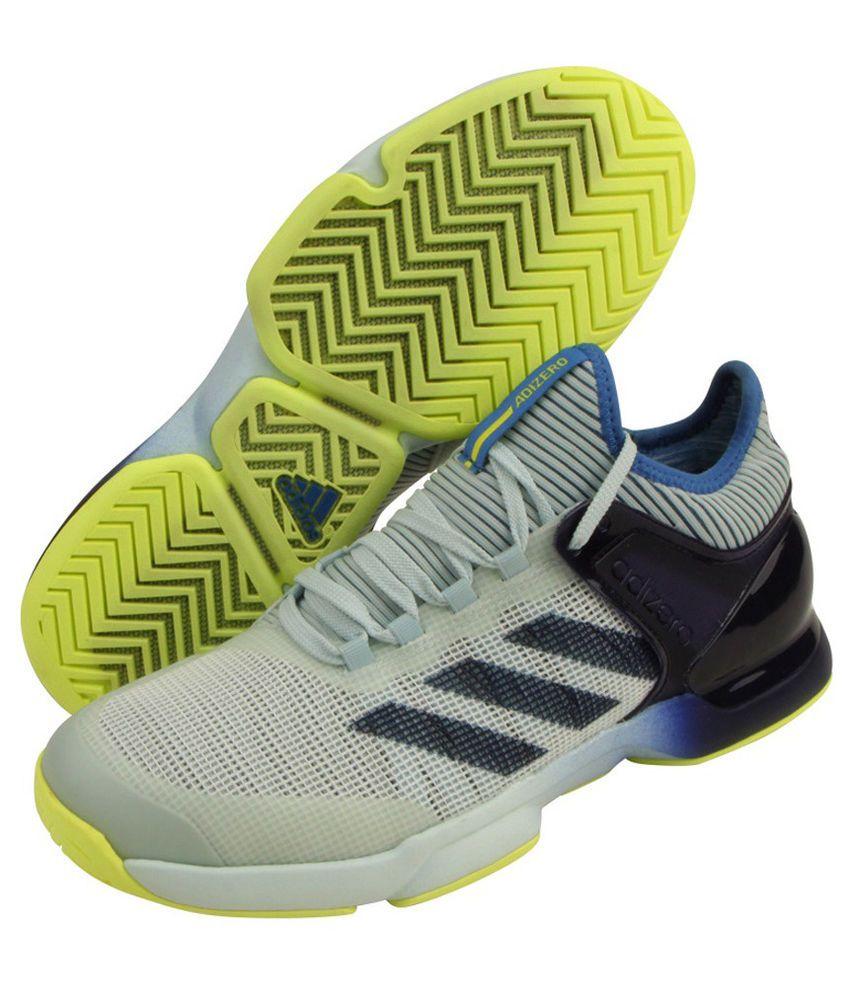 hot sale online 70ae2 feb2e adidas Adizero Ubersonic 2 Men Tennis Shoes Gray Blue Racket Racquet NWT  CM7437 adidas