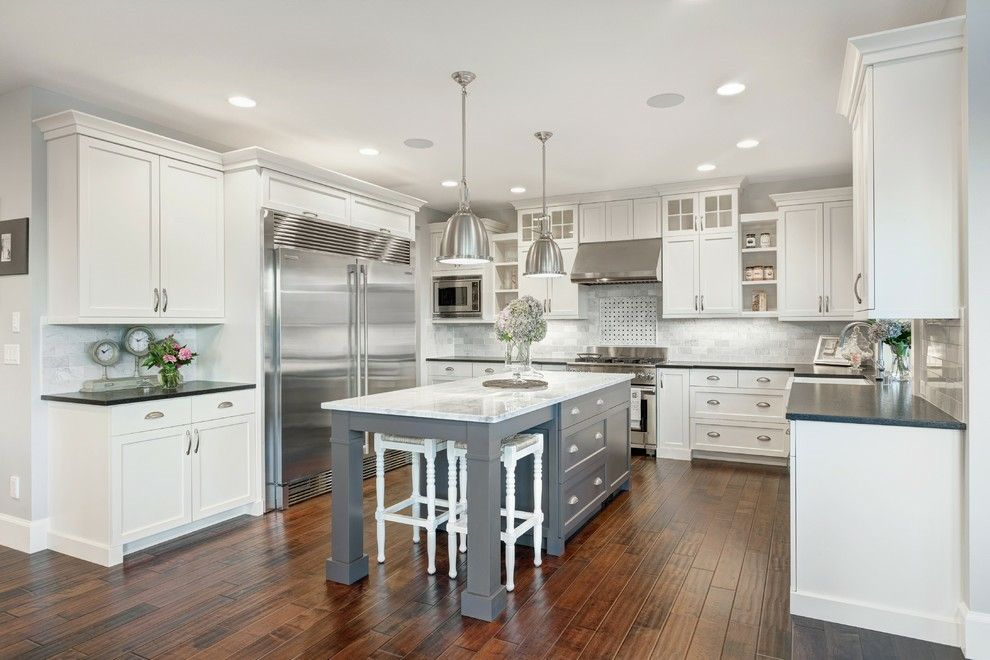 Perfect Kitchen Colors | White/Gray Cabinets & Countertops | Pinterest