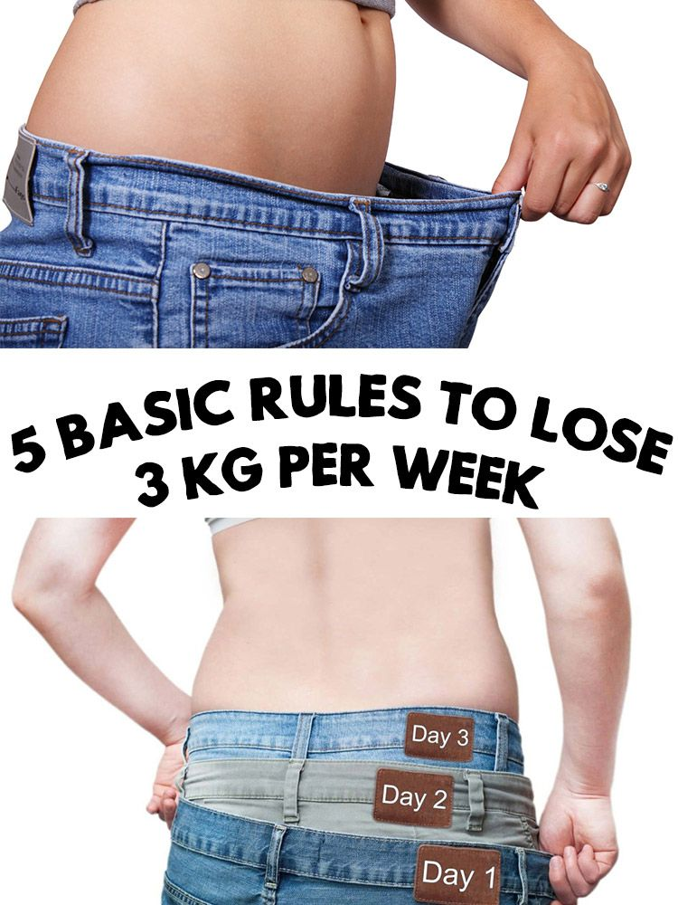 Lose Weight 5 Basic Rules To Lose 3 Kg Per Week