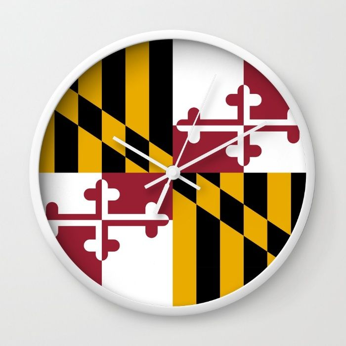 Flag of Maryland - Authentic High Quality image Wall Clock #Maryland #state #flag #stateflags #marylandflag #annapolis