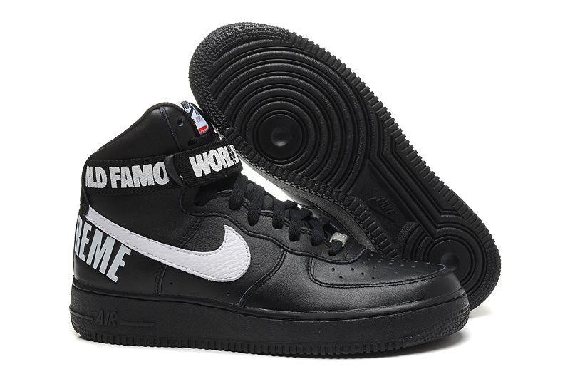 air force 1 mid noir blanc