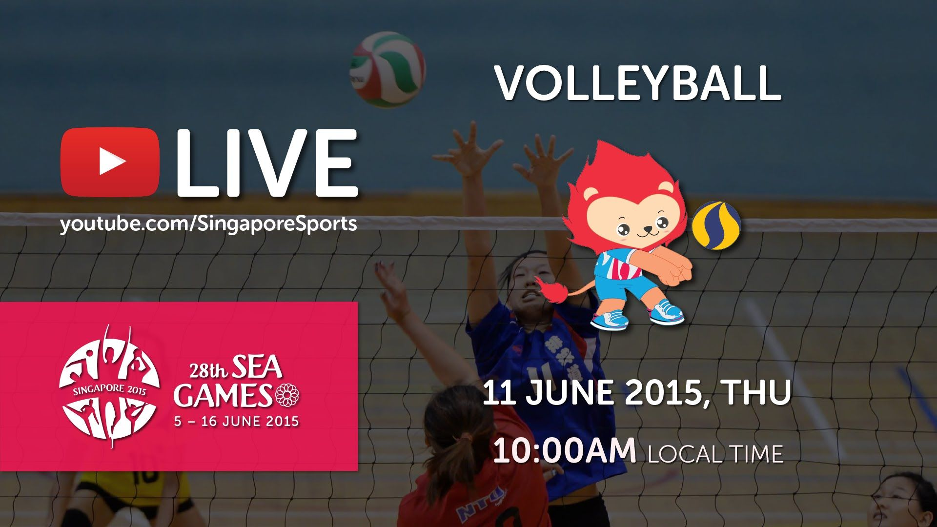 Volleyball Women S Malaysia Vs Philippines I 28th Sea Games Singapore 2015 Volleyball Day Volleyball Live