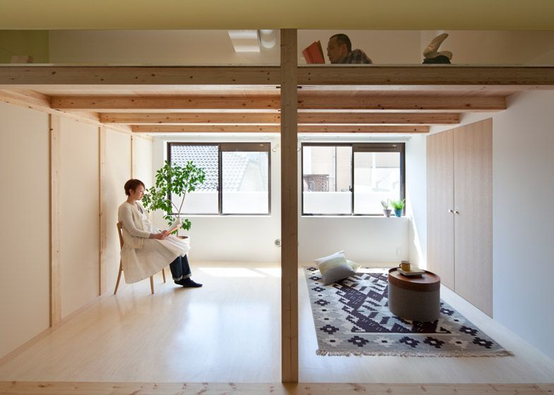 A small apartment in Japan that's been revamped to include a small loft reading space. See more at: http://humble-homes.com/sinatos-fujigaoka-t-apartment-revamp-kanagawa/