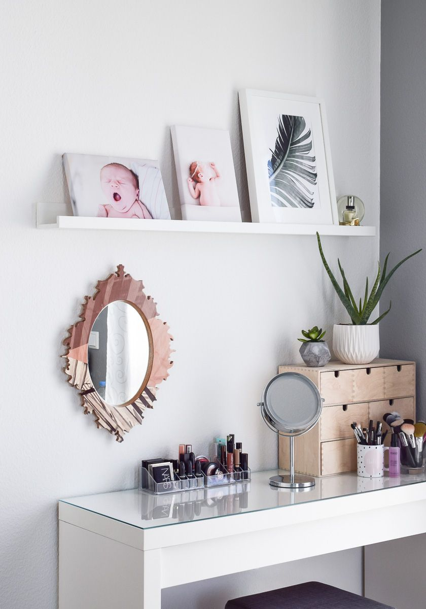 Schminktisch Ideen: 5 Tipps für Aufbewahrung & Deko! | Beauty room ...