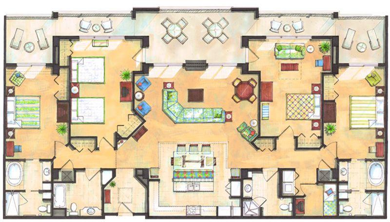 Holiday Inn Club Vacations Orange Lake Bedroom Floor Plans Floor Plans
