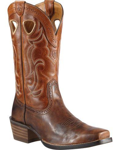 Men's Ariat Sport Square Toe, Size: 8.5 2E, Powder Brown Full Grain Leather
