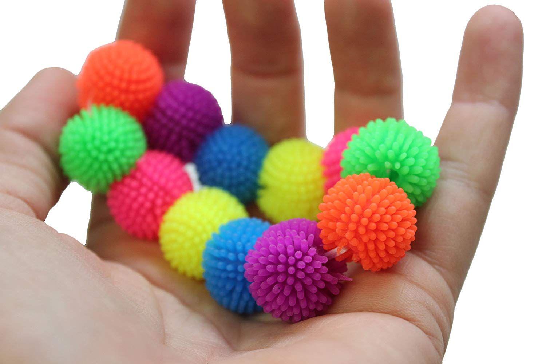 Curious minds busy bags mini pom puffer hedge ball fidget