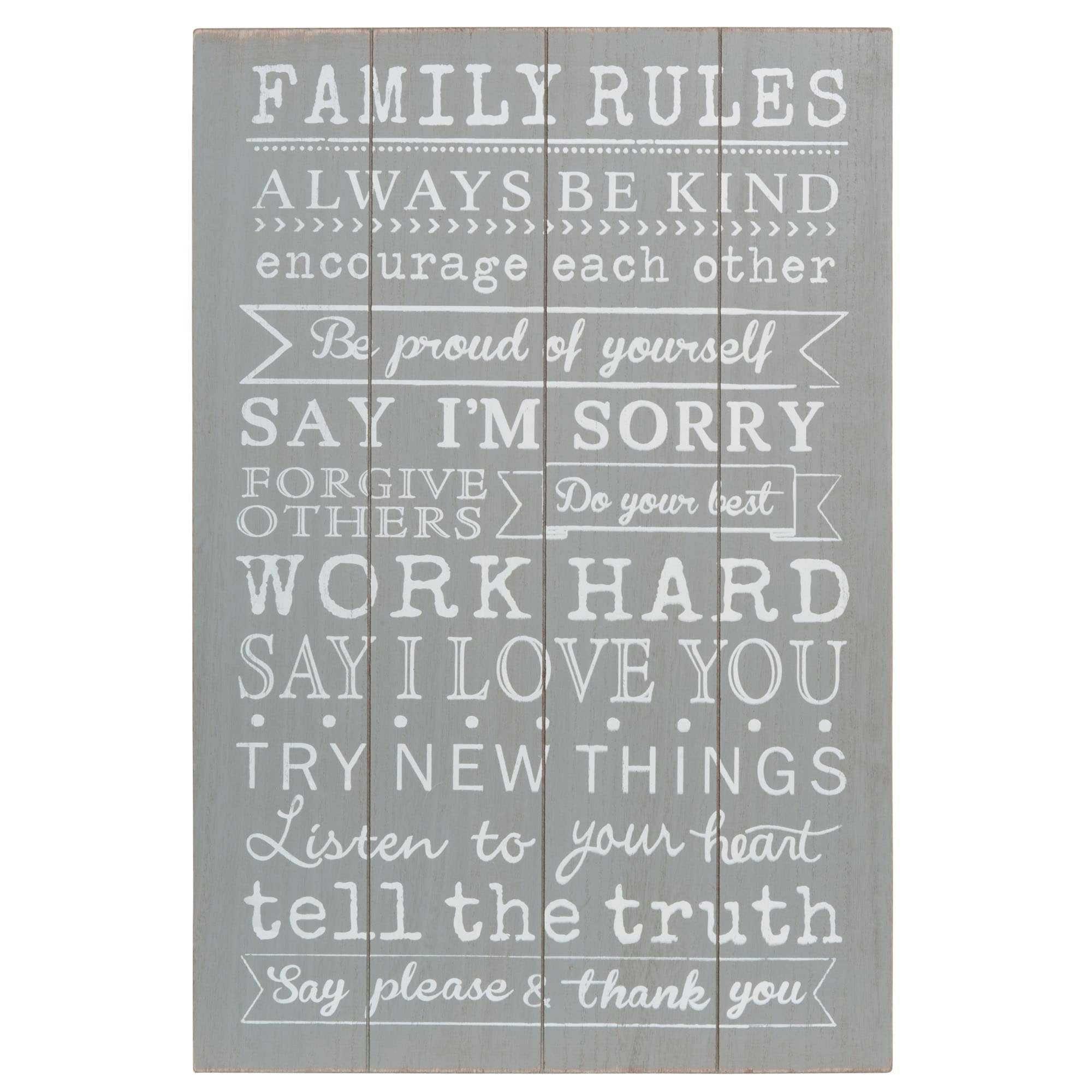 Tableau En Bois 40 X 60 Cm Family Rules Playroom Ideas Pinterest