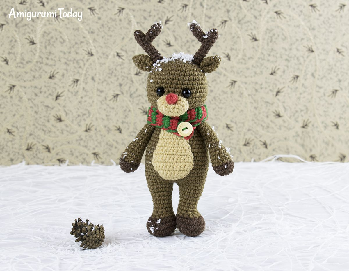 Patrón de ganchillo Cuddle Me Reindeer de Amigurumi Today | crochet ...