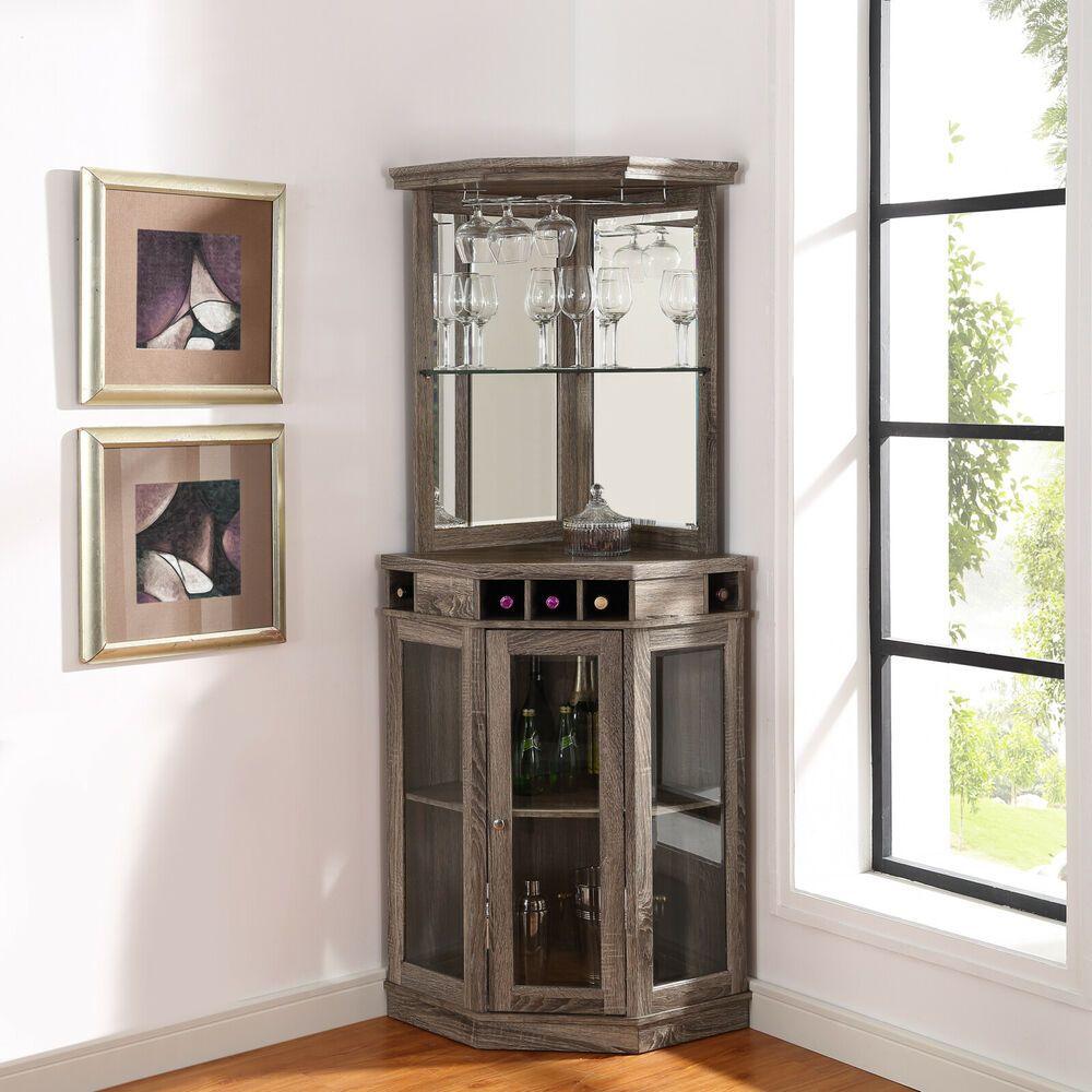 Meuble Mini Bar D Angle mini bar corner unit liquor cabinet home wine storage