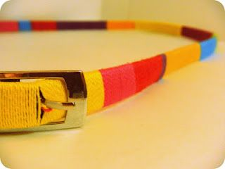 Easy do it yourself color block belt