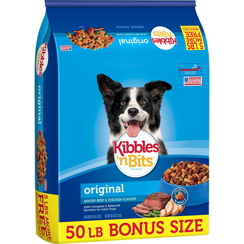 Amazon Com Kibbles N Bits Original Dry Dog Food Bonus Bag 50 Lb