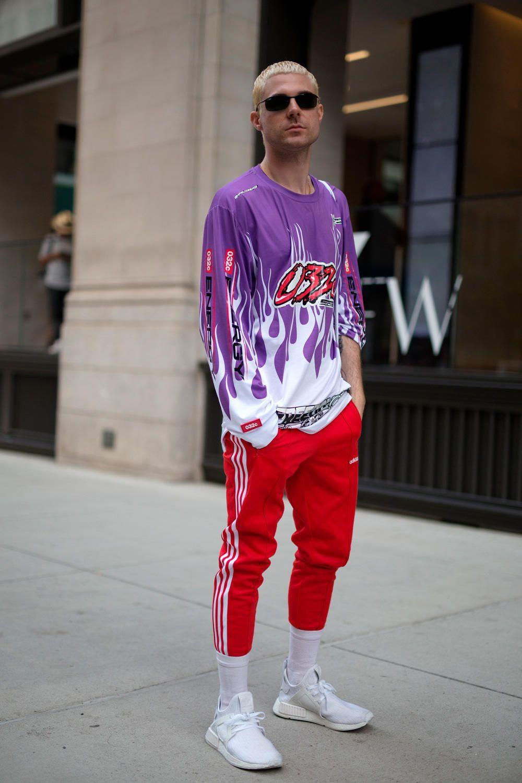 4224b07fde4 On the street at New York Fashion Week  Men s. Photo  Imaxtree.  3  new   pinterest  love  like4like  fashion  streetwear  trend