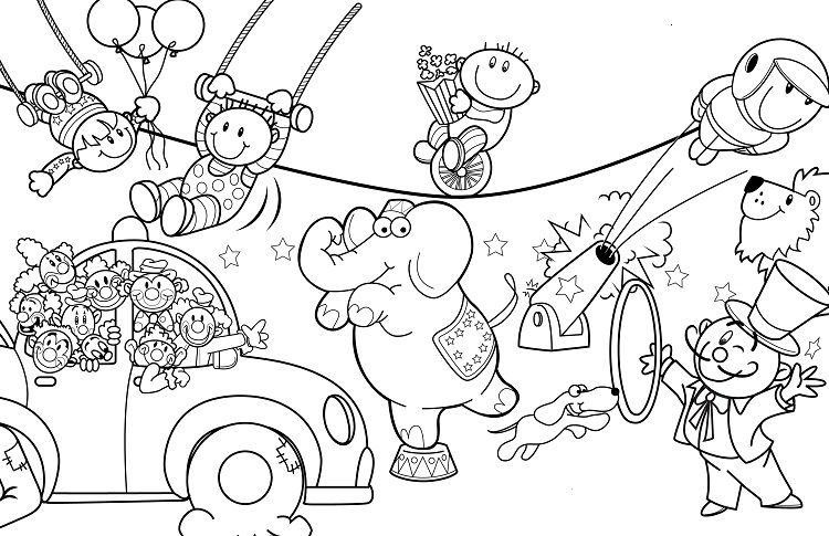 Carnival Of The Animal Coloring Pages