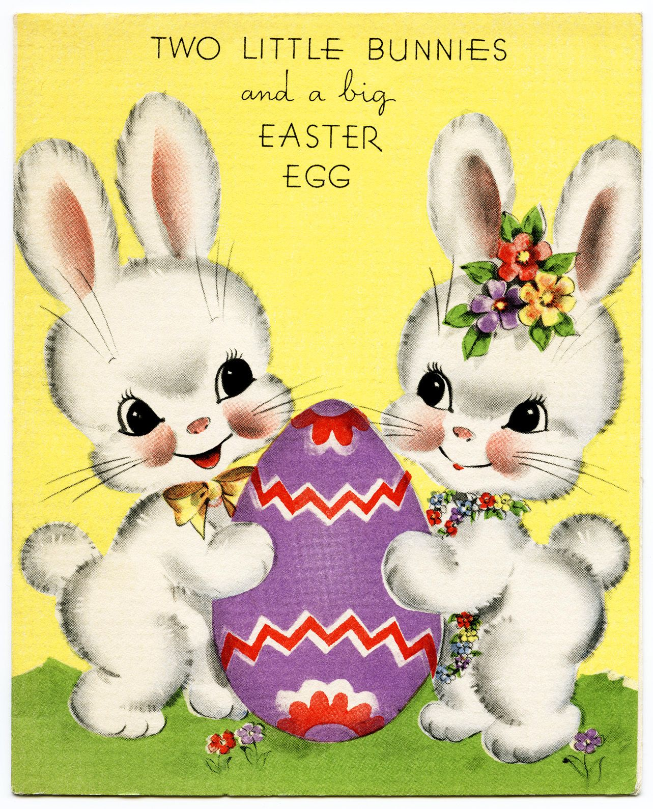 Vintage Easter Greeting Card Easter Bunny Clipart Vintage Easter
