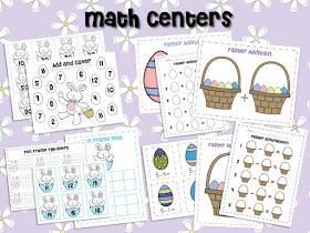 Mrs. Ricca's Kindergarten: Easter Math & Literacy Centers...and a FREEBIE!