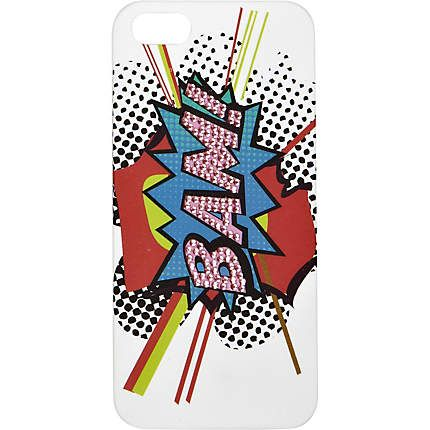 RI White diamante BAM print iPhone 5 case £8.00