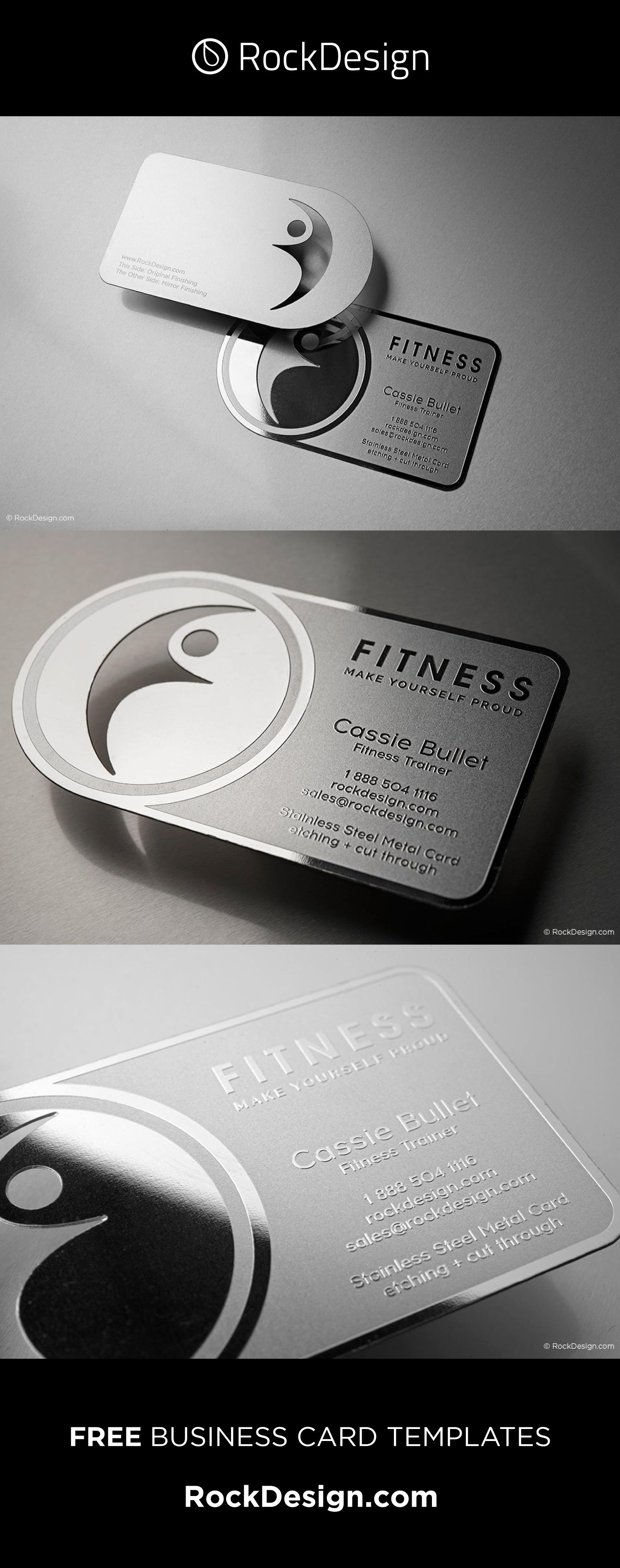 Fitness Business Card Stainless Steel Fitness Metal Business Cards Fitness Business Card Innovative Business Cards