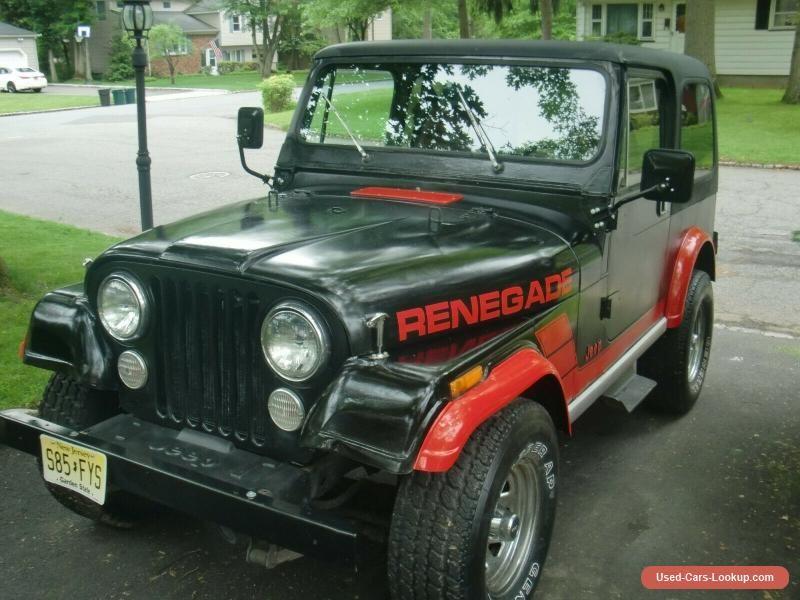 Car For Sale 1986 Jeep Cj
