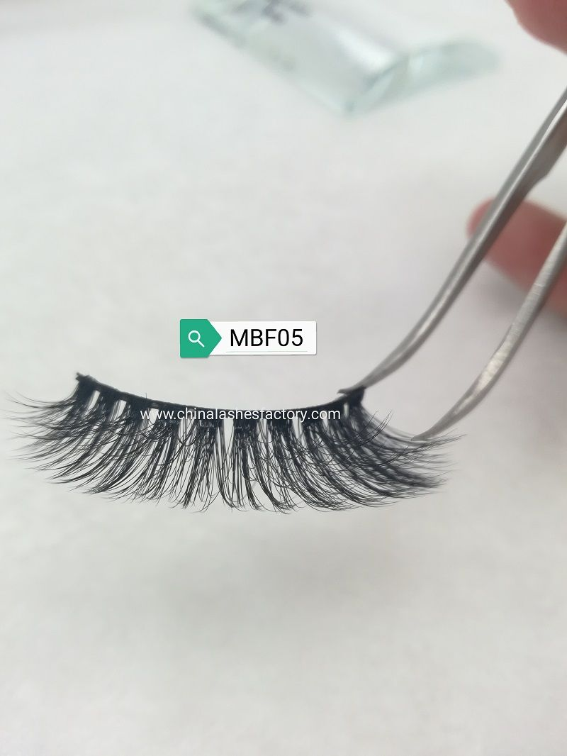 MBF05 & Newest Vegan Fluffy Lashes Multilayers with curls