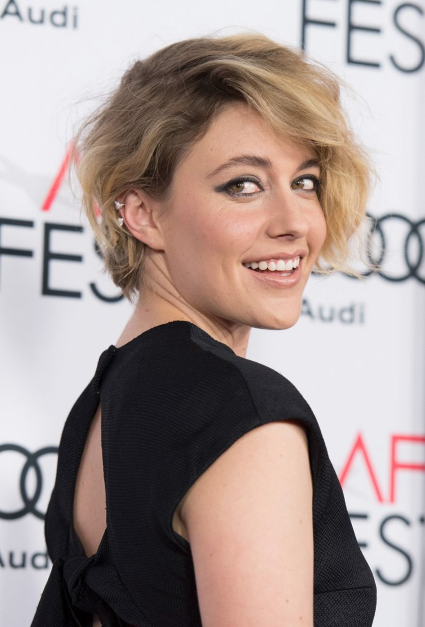 Get The Look Greta Gerwig S Tousled Bob Short Hair Styles