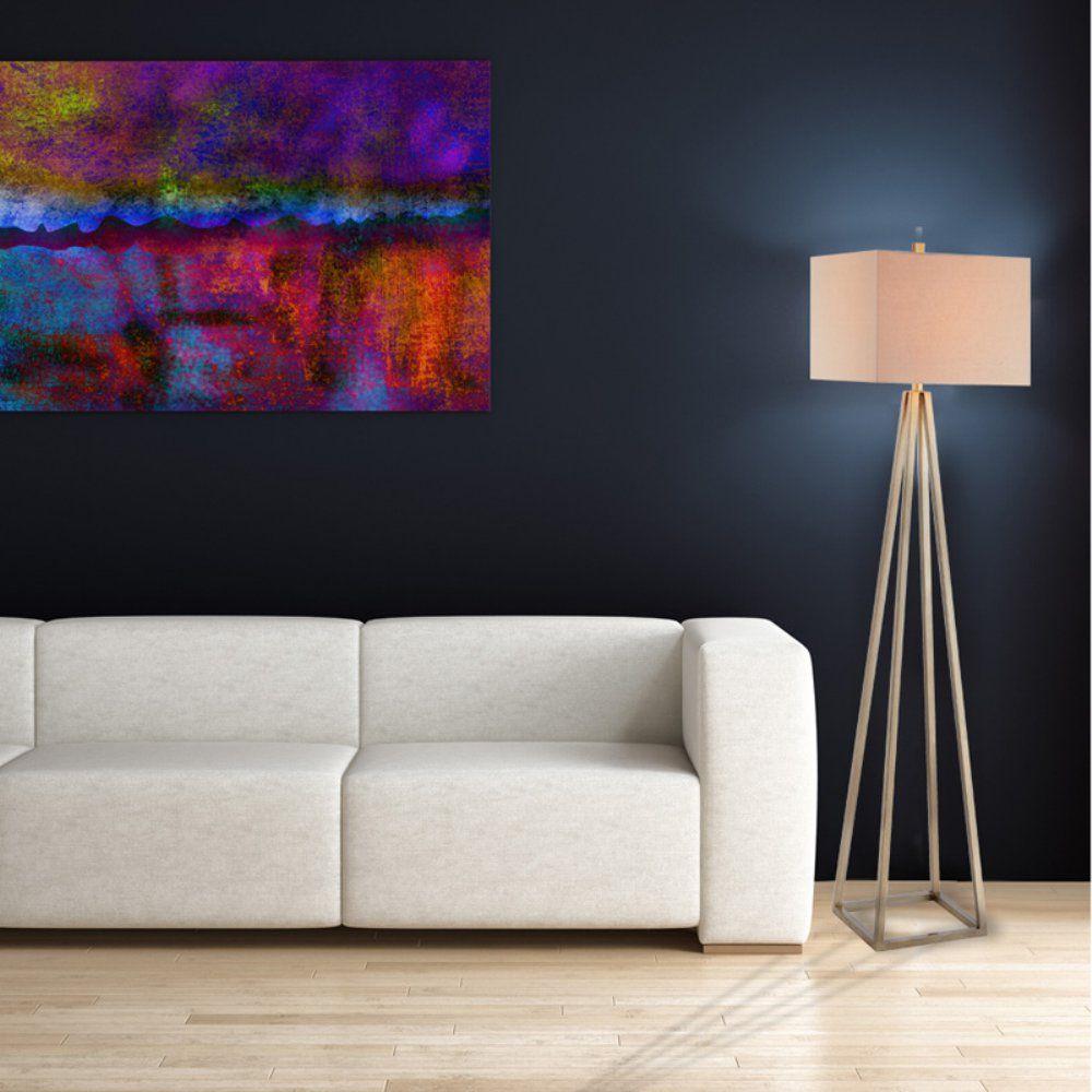 Catalina Lighting 62.75 in. Tripod Floor Lamp Metal