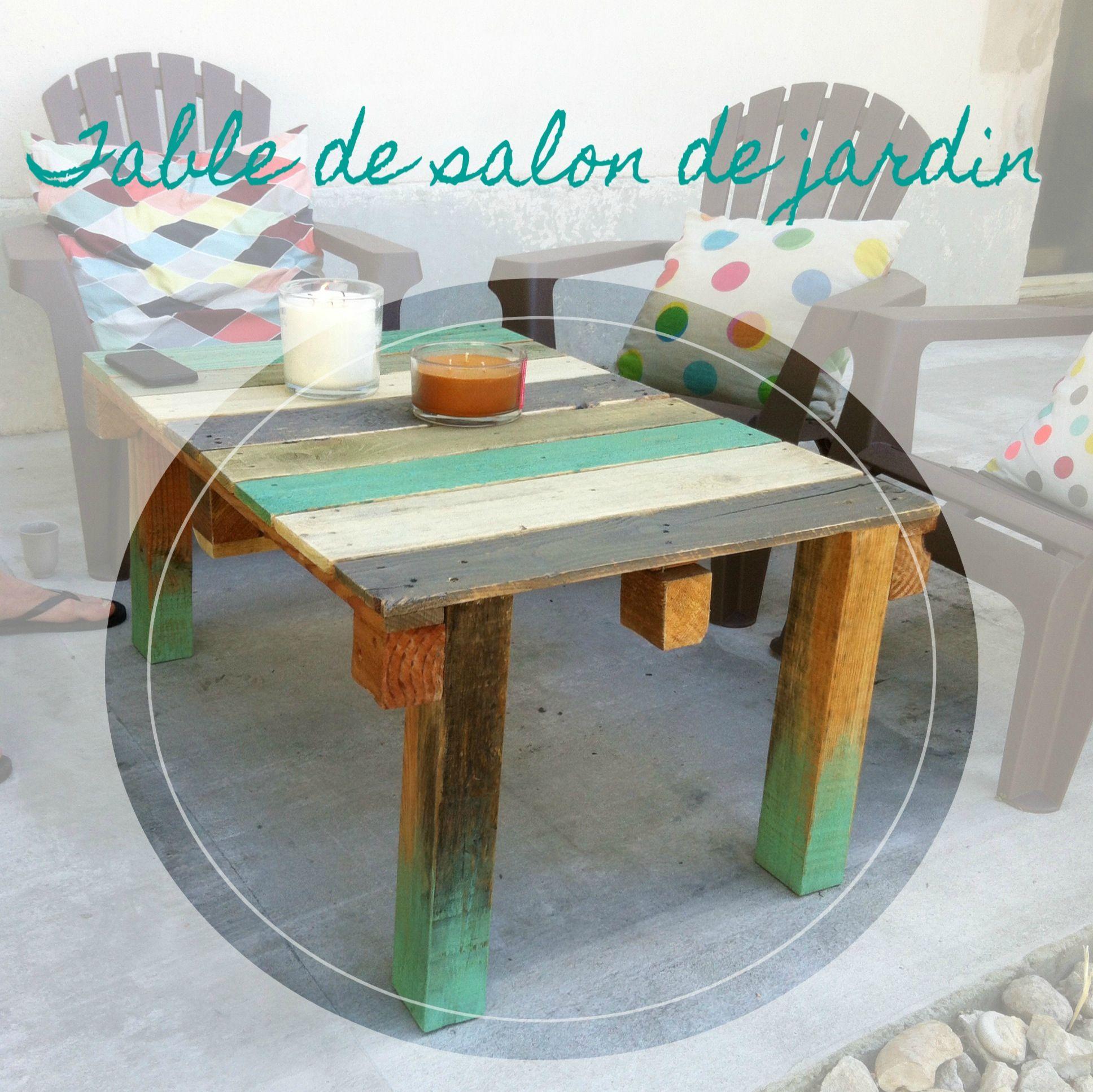 Vive la récup! La table basse de jardin en palette - DIY Relooking ...