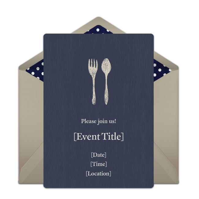 free fork spoon invitations m b pinterest invitations party